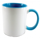 Inner & handle colour photo mug